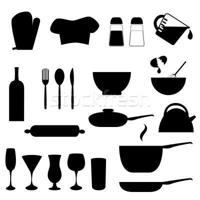 Cocina   Silueta   Botella   Cuchillo   Herramienta   Dibujo
