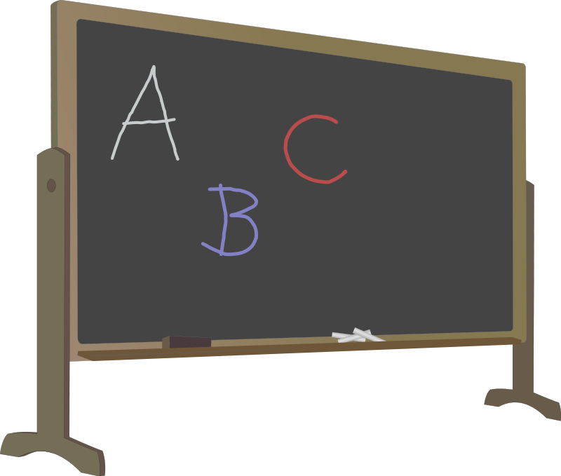Free Blackboard With Colorful Chalk Writing Clip Art