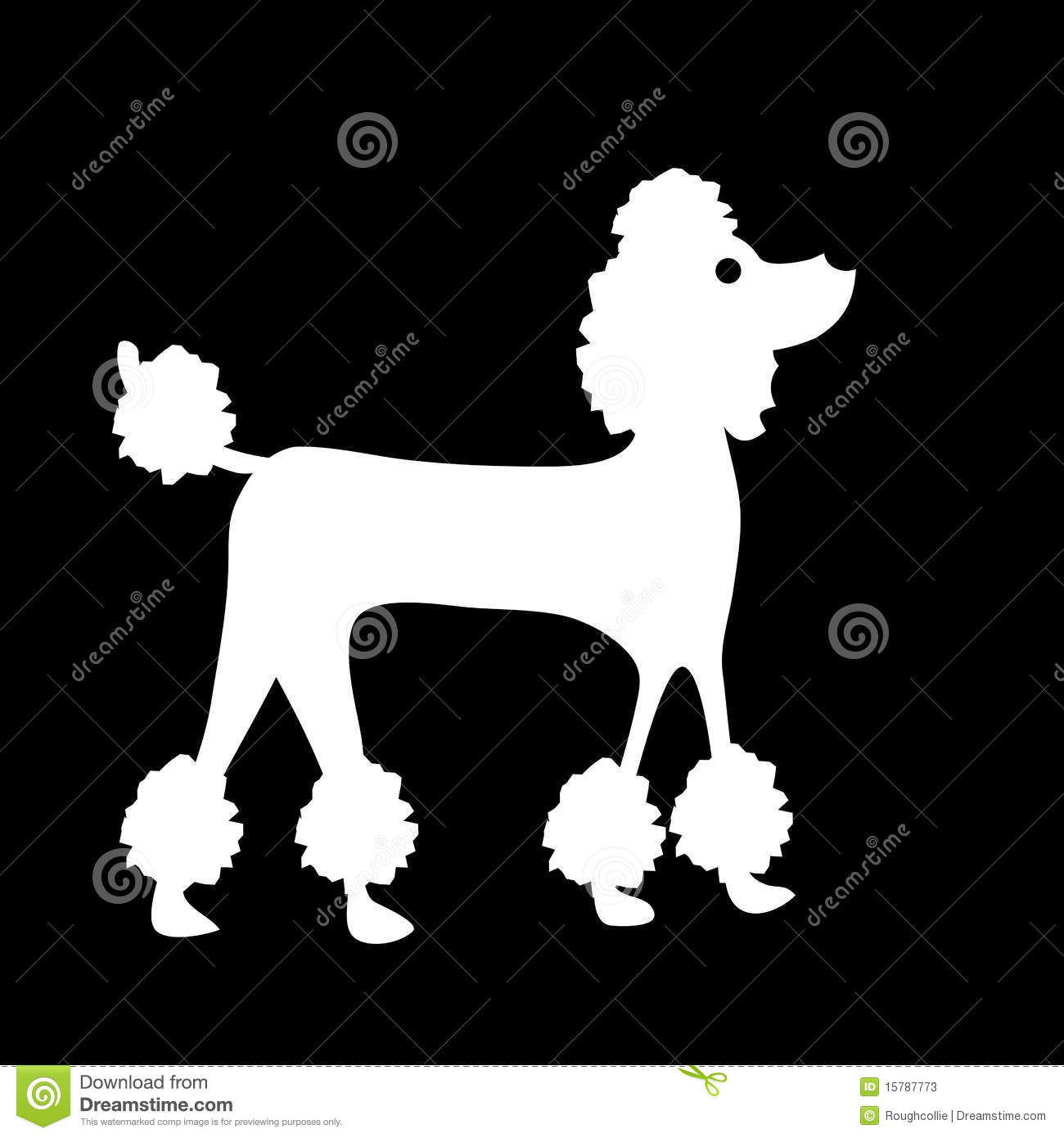 French Poodle Silhouette Clip Art Images   Pictures   Becuo