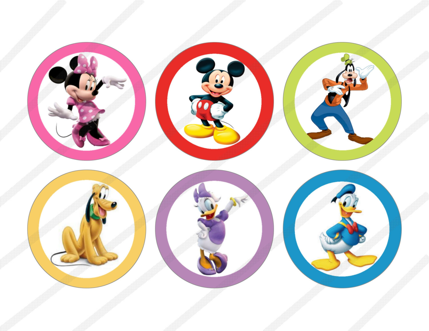 Mickey Clubhouse Character Birthday Clipart - Clipart Kid
