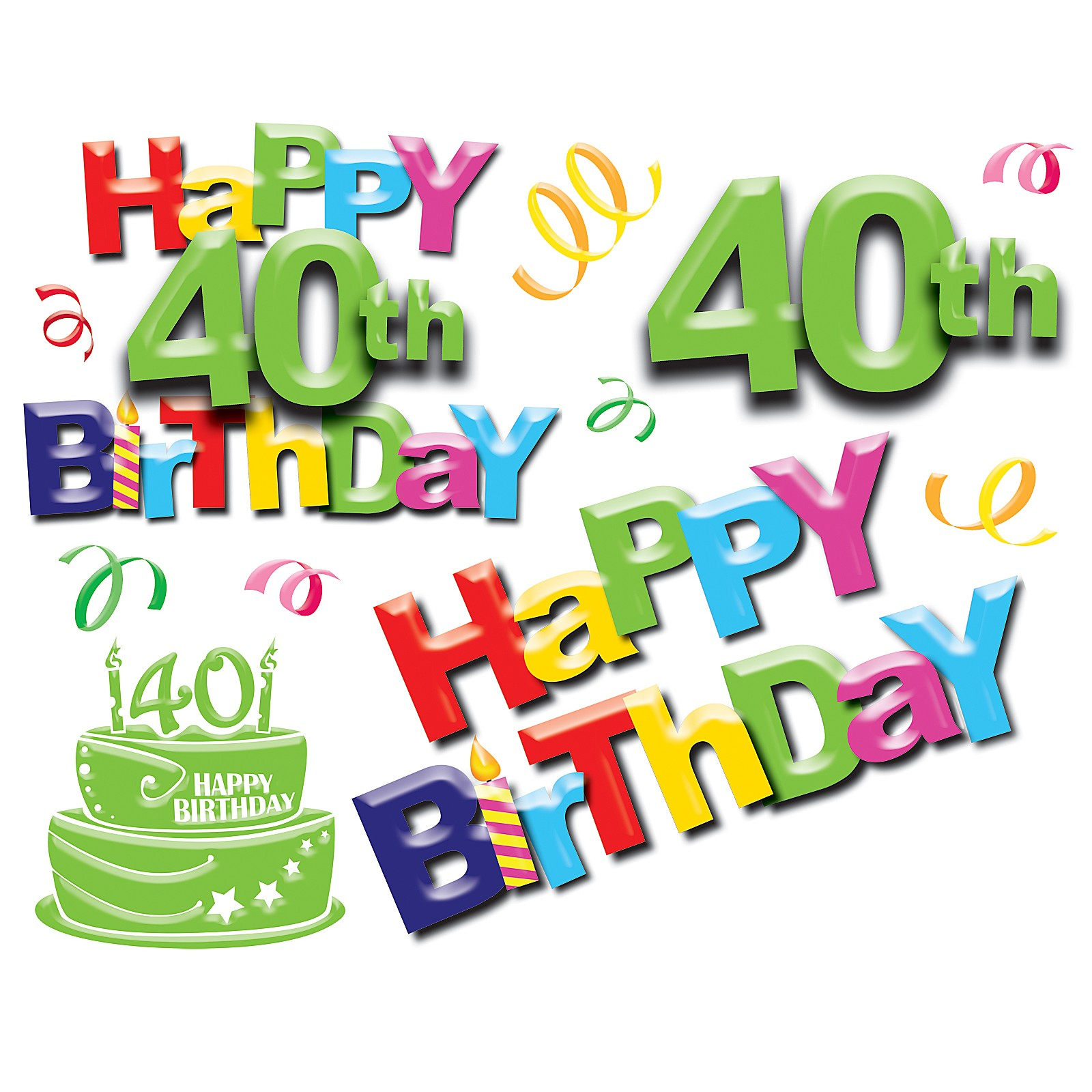 Man's 40th Birthday Clipart