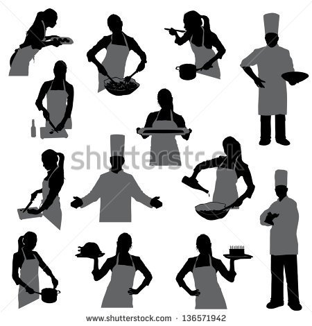 Of A Woman With A Woman Cooking Silhouette Woman Cooking Silhouette