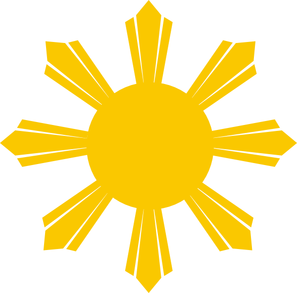 Philippine Sun Clip Art At Clker Com   Vector Clip Art Online Royalty