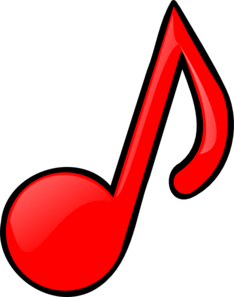 Red Music Notes Clip Art   Clipart Panda   Free Clipart Images