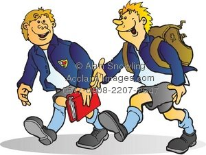 Friends Walking Clipart - Clipart Kid