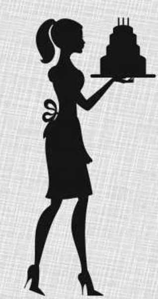 Silhouette Lady Cake Birthday Invitations   Free Images At Clker Com