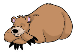 Sleeping Bear Clipart Black And White   Clipart Panda   Free Clipart