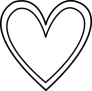 Double Heart Black And White Clipart - Clipart Kid