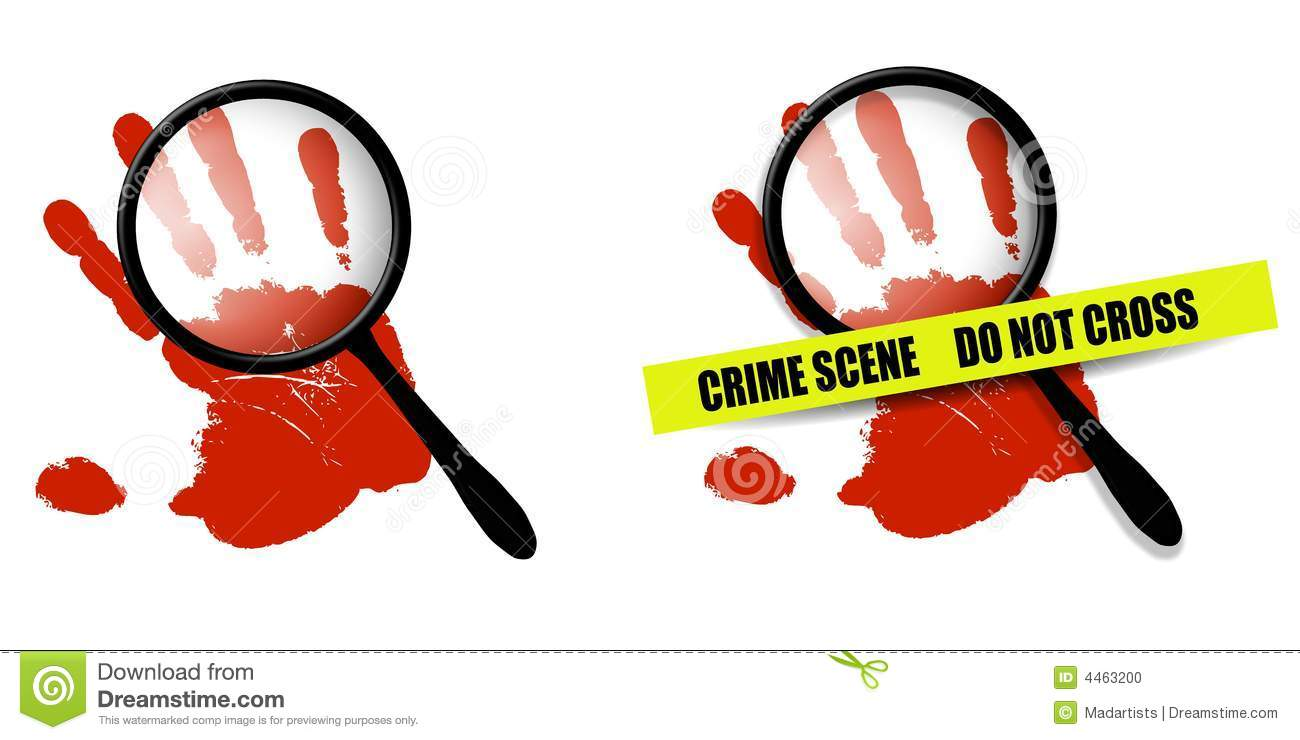 An Illustration Featuring Your Choice Of 2 Crime Scene Images   One