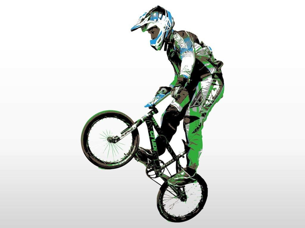 clipart mountain bike rider - photo #46