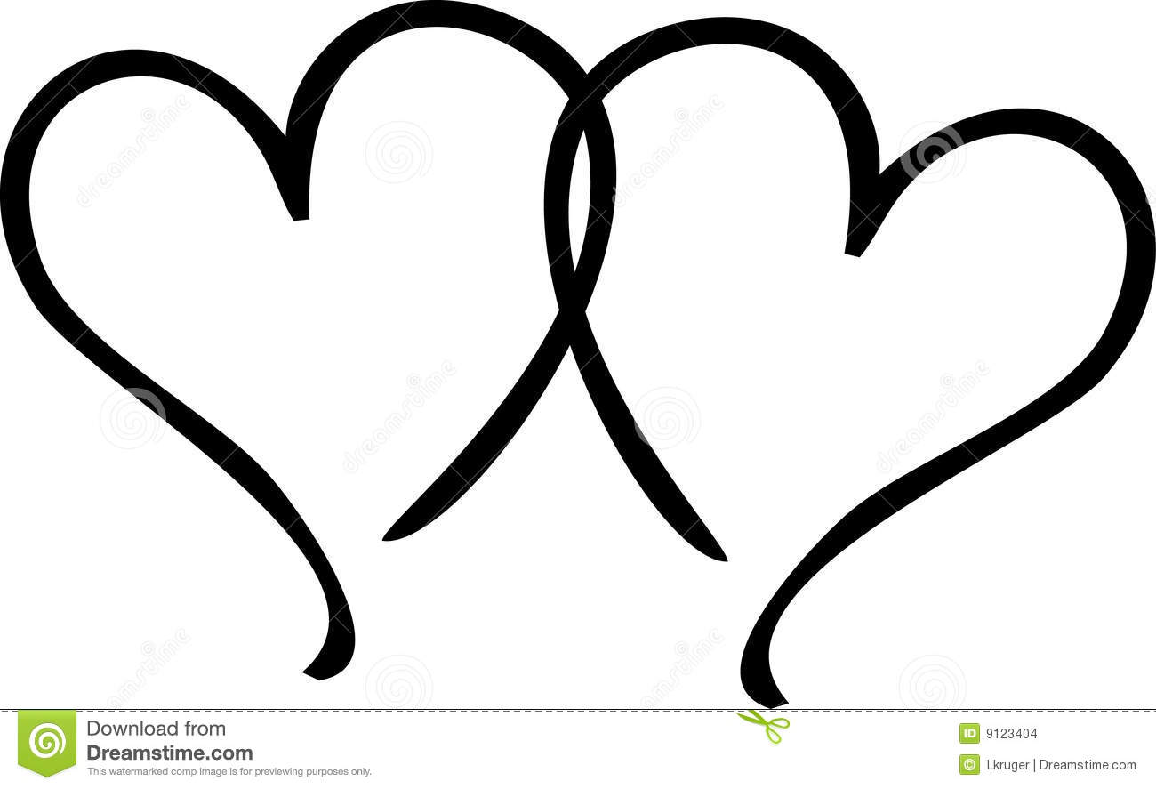 Clip Art Two Hearts   Clipart Panda   Free Clipart Images
