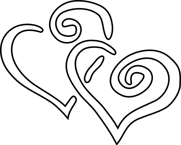 Double Heart Clipart Black And White   Clipart Panda   Free Clipart