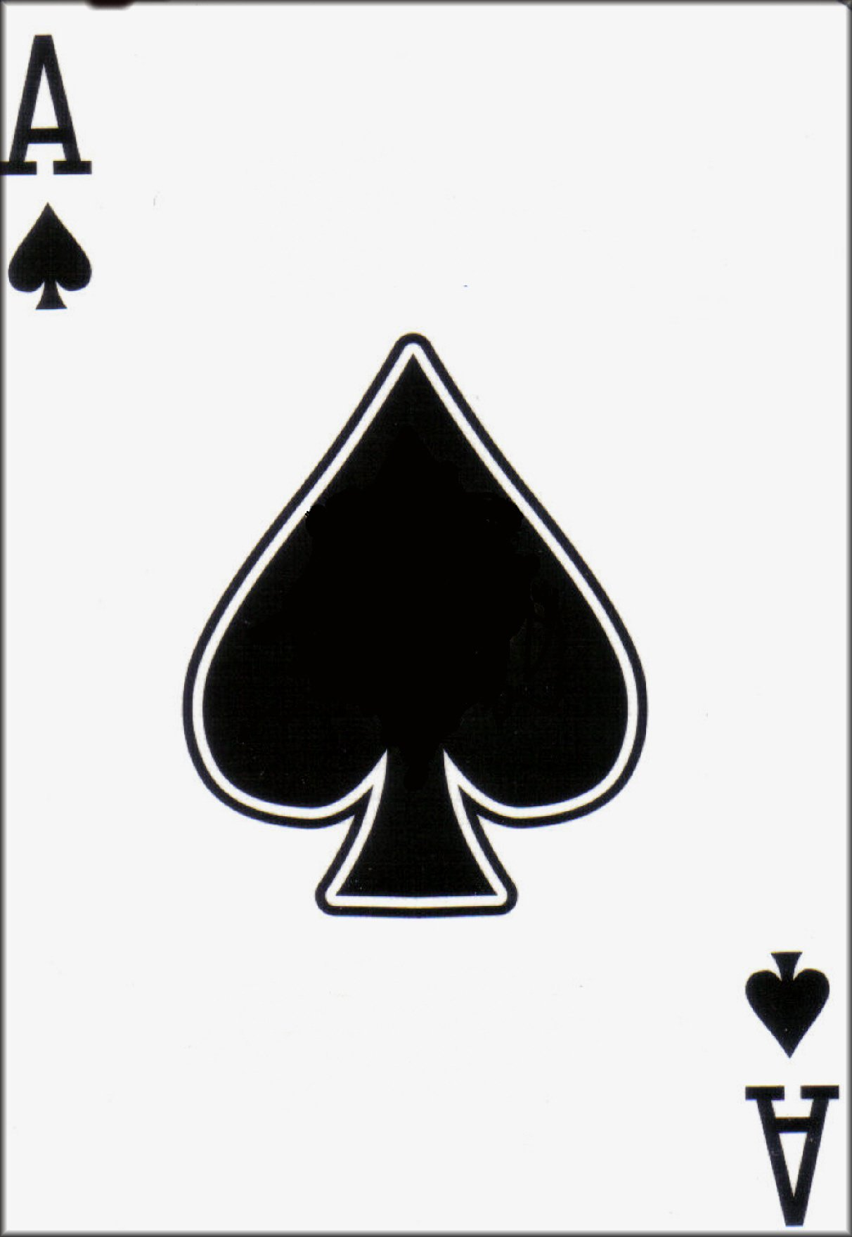 Ace Of Spades Playing Card Clipart - Clipart Kid