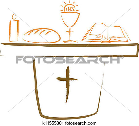 Holy Communion   Altar And Religiou  Fotosearch   Search Clip Art