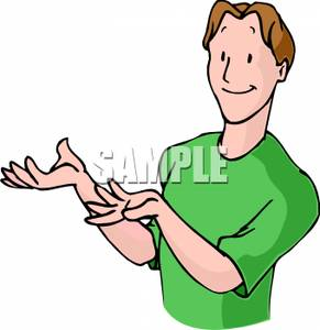 Man Gesturing As He Talks   Clipart