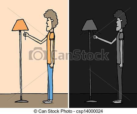 Of Saving Energy Turning The Light Off Csp14000024   Search Clipart