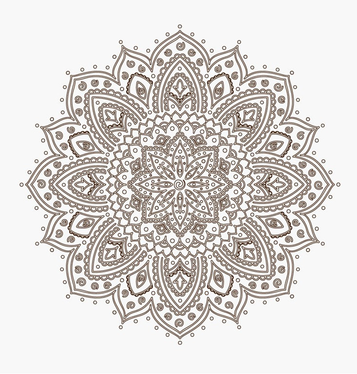 Ornamental Round Floral Lace Pattern   Abstract Background