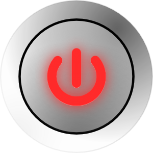 Power Button States On Off Clip Art At Clker Com   Vector Clip Art