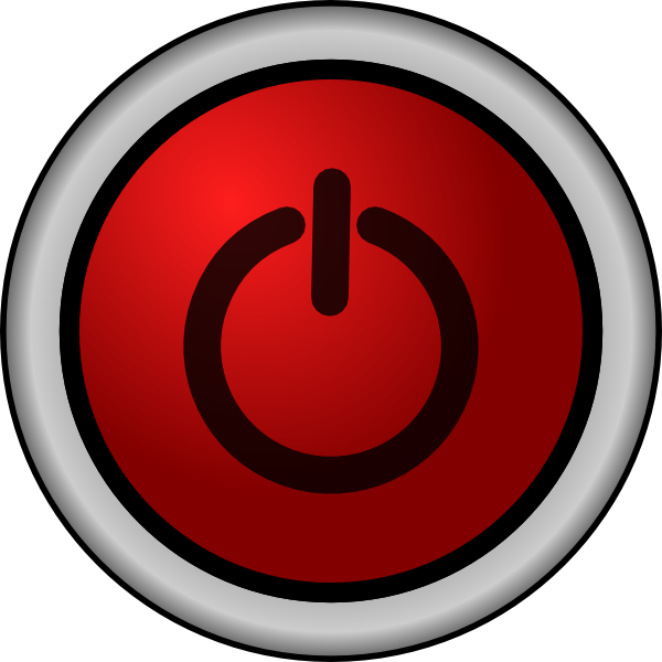 Power On Off Switch Red Clip Art At Clker Com   Vector Clip Art Online