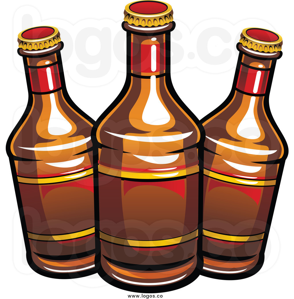 Pub Clipart Royalty Free Clip Art Vector Logo Of Three Beer Bottles By