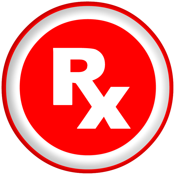 Rx Prescription Symbol Bold Red Clipart Image   Ipharmd Net