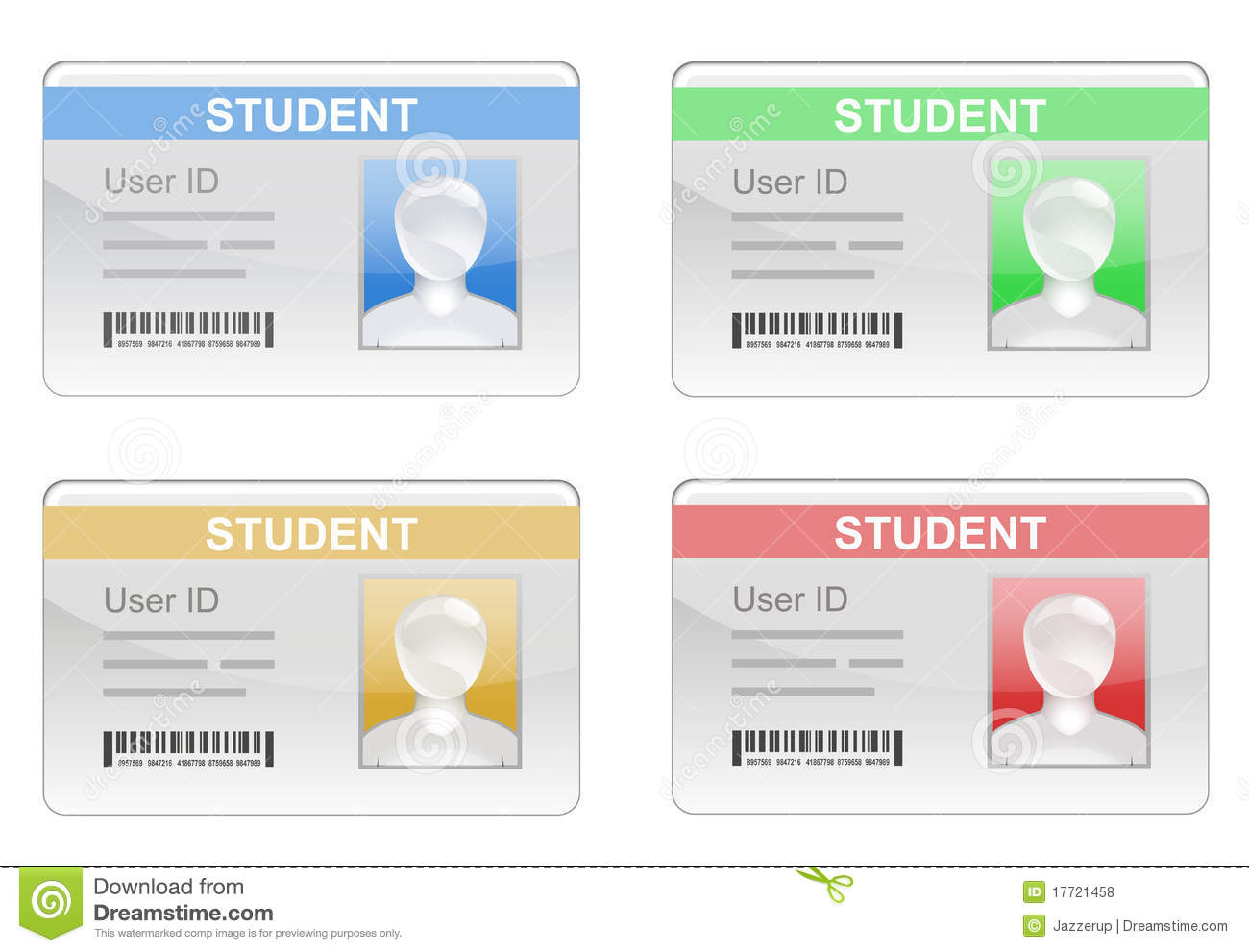 Student id card clipart clipart suggest for University id card template