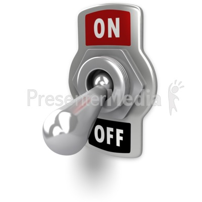 Switch Flipped Off   Signs And Symbols   Great Clipart For