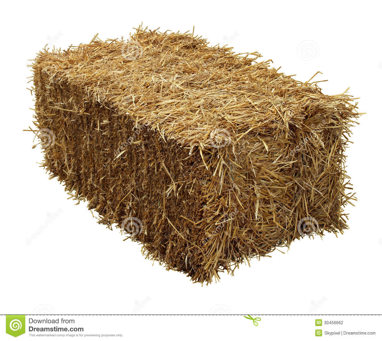Bale Of Hay Isolated On A White Background As An Agriculture Farm And