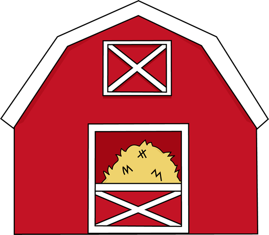 Barn With Hay Clip Art Image   Red Barn With Hay