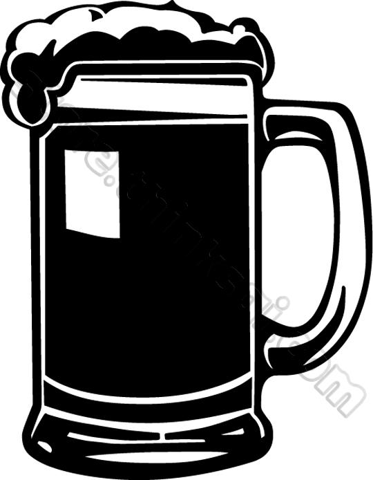 Clip Art Beer Mug Clipart beer mug clipart kid illustration black and white food drink mug