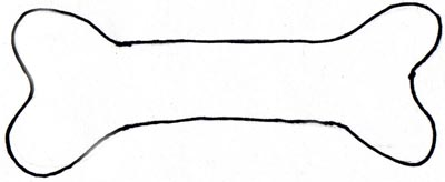 Dog Bone Outline Clipart - Clipart Kid
