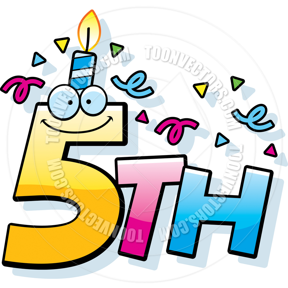 Cartoon 5th Birthday By Cory Thoman   Toon Vectors Eps  47454