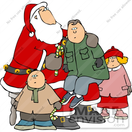 Children On Santa S Lap Clipart    12504 By Djart   Royalty Free