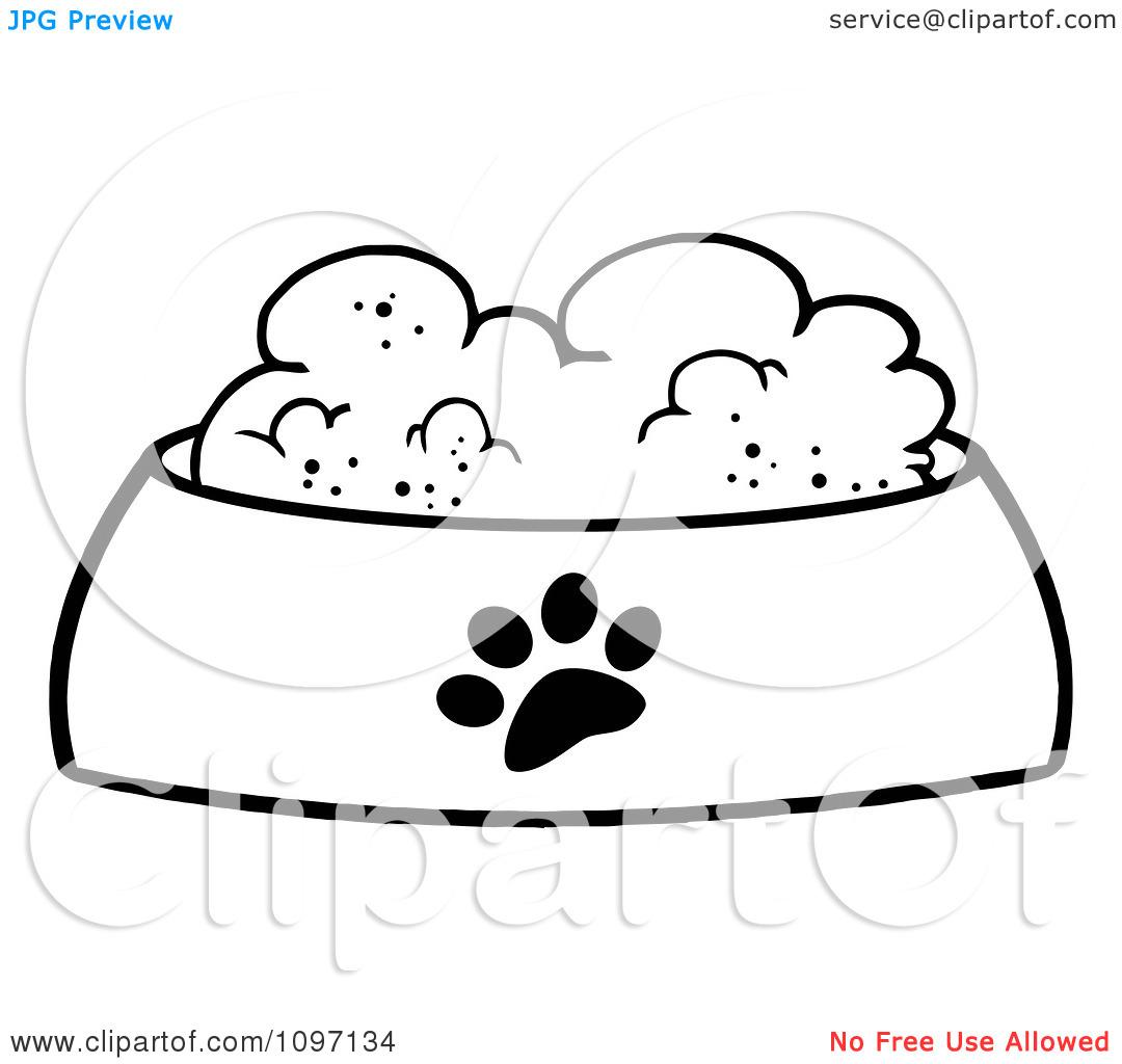 Dog bowl drawing