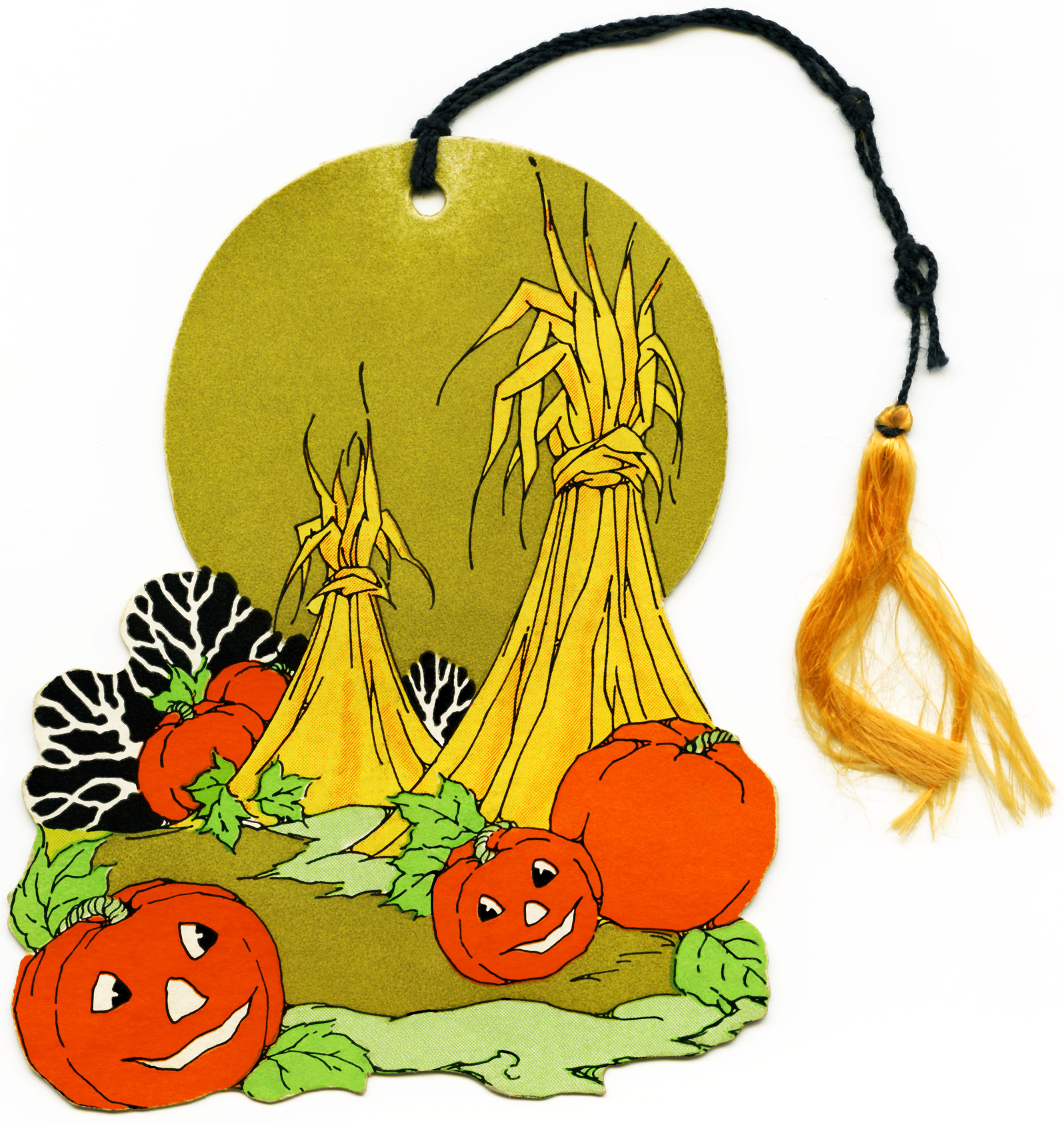Free Vintage Halloween Clipart   Pumpkins And Hay Stooks   Old Design