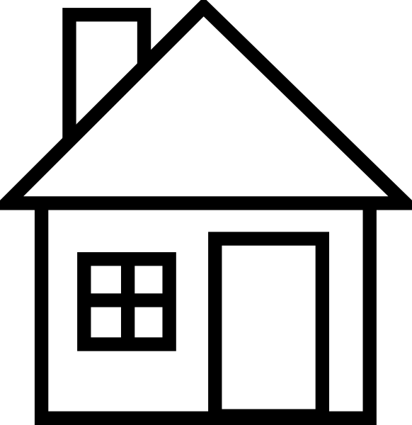 clip art black and white home clipart clipart suggest