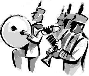 Clip Art Marching Band Clip Art marching band black and white clipart kid if you have any questions during camp please ask mrs slovick or