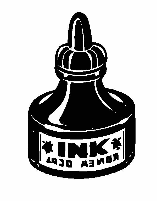 ink bottle drawing Gallery