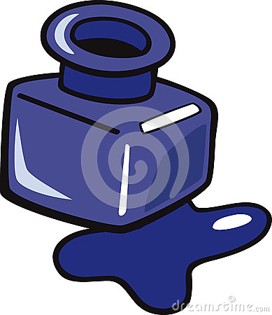 Ink Clipart Ink Clip Art Cartoon Illustration Blue Bottle 32871207 Jpg