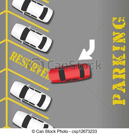 Lot Clipart Reserved Parking Lot
