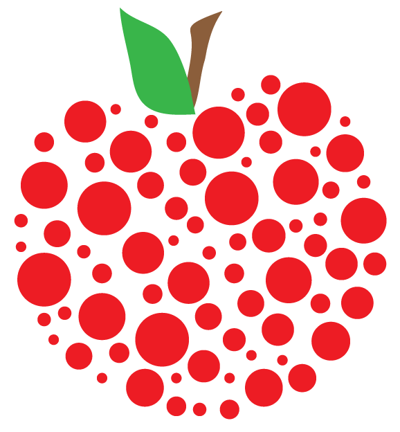 Pics Photos   Polka Dot Apple Clipart
