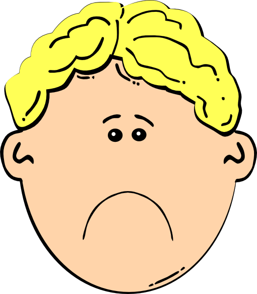 Sad Boy Clip Art At Clker Com   Vector Clip Art Online Royalty Free