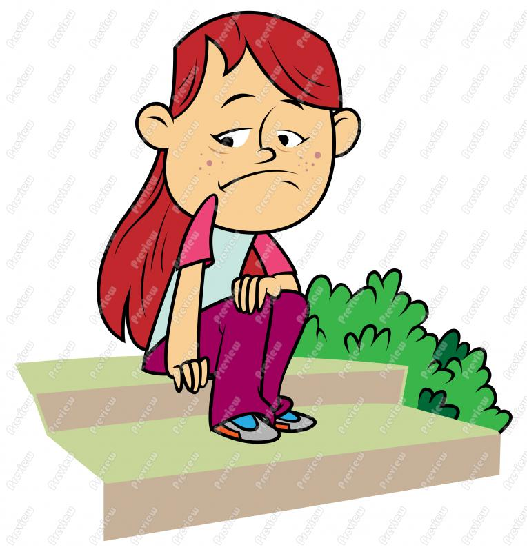 Sad Girl Child  Clip Art Cartoon Jpg