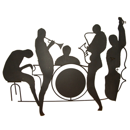 Silhouette Jazz Band Wall Sculpture Id   Free Images At Clker Com