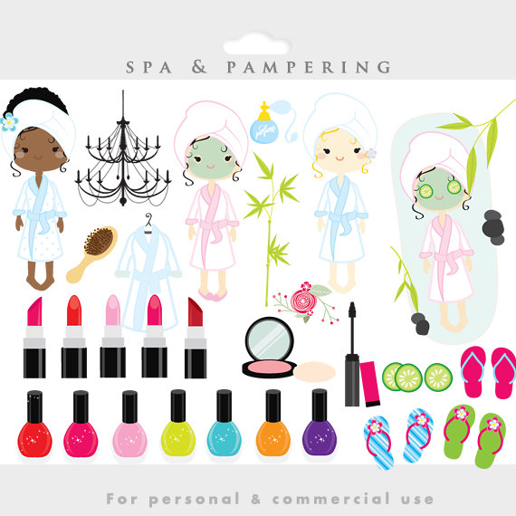 Spa Clipart   Sleepover Clip Art Slumber Party Fashion Make Up