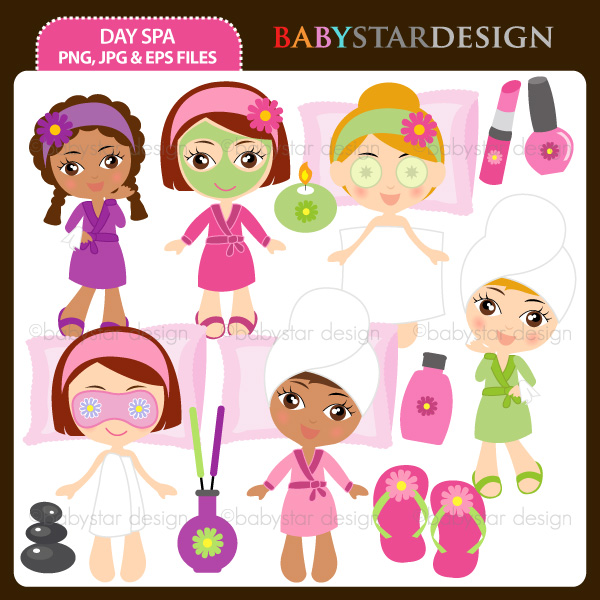 Spa Spa Themed Clipart Spa Girls Spa Day Spa Spa Party  Day Spa