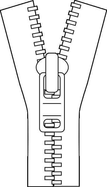 Zipper Line Art : Zip clipart suggest