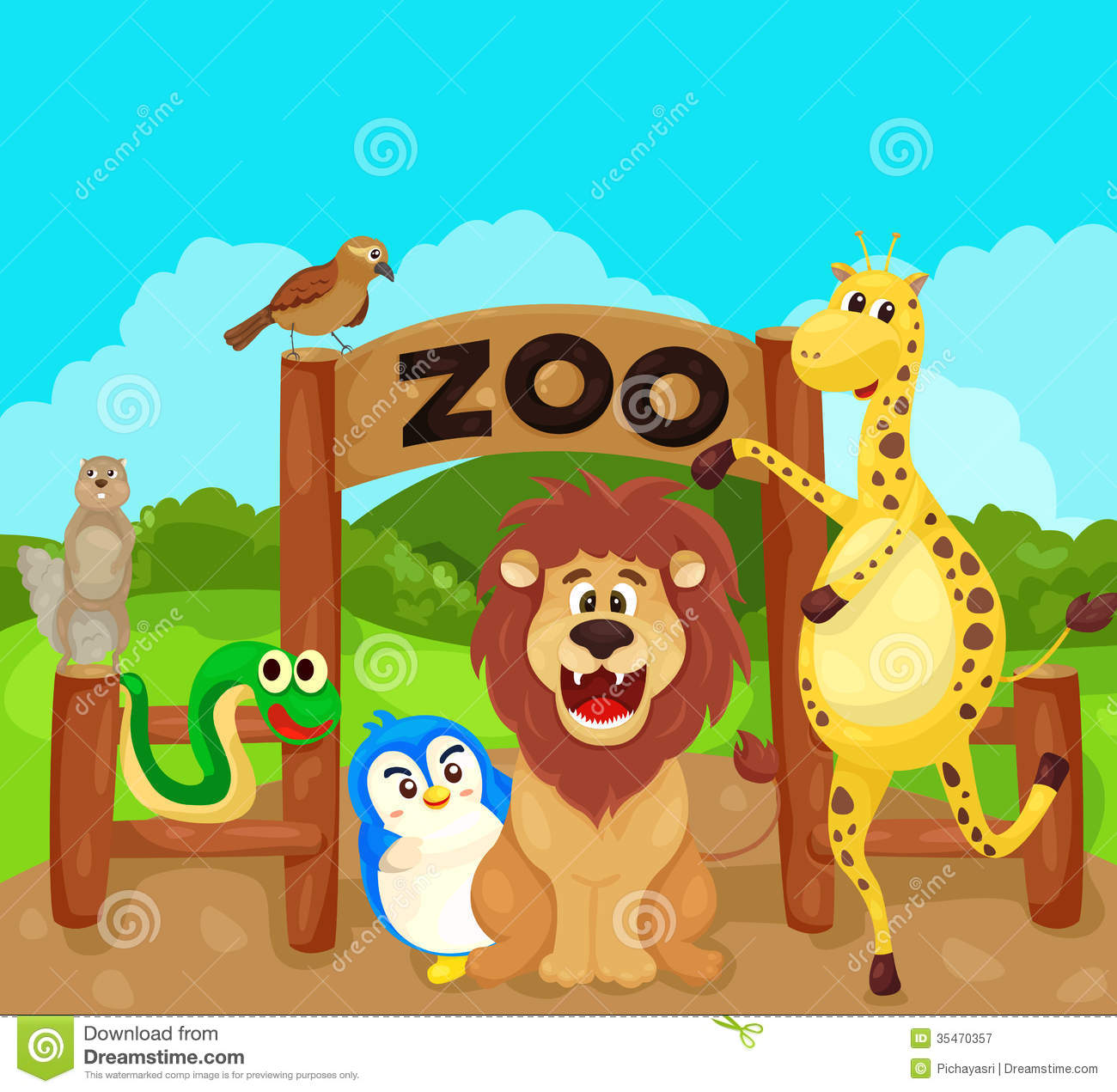 Zoo Sign With Animals Royalty Free Stock Photography   Image  35470357