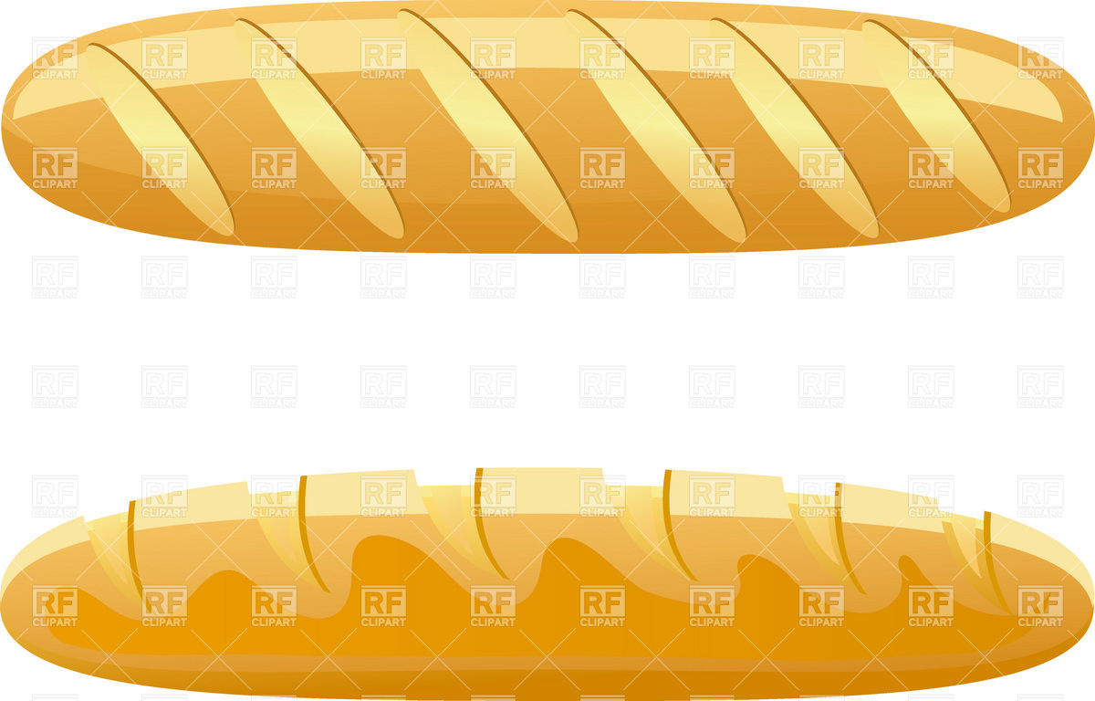 Bread   Long Loaf Download Royalty Free Vector Clipart  Eps