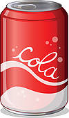 Can Of Cola   Clipart Graphic